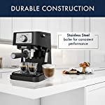 De'longhi stilosa manual espresso machine, latte & cappuccino maker, 15 bar pump pressure + manual milk frother steam… 11 take authentic espresso experience home with stilosa. Brew lattes, cappuccinos and espressos in a comfort of your home. Contemporary and compact design: the perfect addition to your modern kitchen countertop, without taking up too much space, plus it's easy to clean.