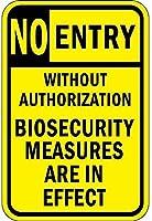 ナンシーグレートメタルサイン承認なしのエントリーなしバイオセキュリティが事実上屋外の屋内サインウォールデコレーション