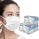 6mm幅の平ゴム 個包装マスク 使い捨て 三層構造 不織布マスク 男女兼用 耳痛くならない 150枚入(50枚箱入*3箱)