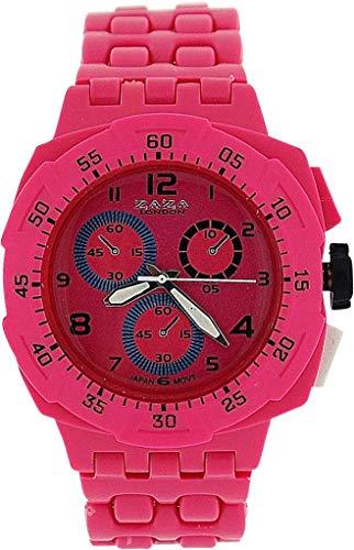 ZAZA London PL342 pink - Orologio da polso, cinturino in plastica colore rosa