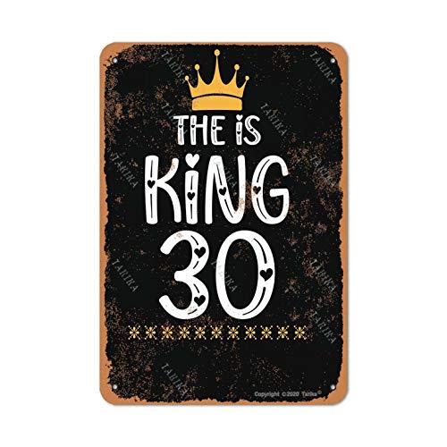 The Is King - Placa decorativa de 30 latas, aspecto retro, 20,3 x 30,5 cm, para el hogar, la cocina, el baño, la granja, divertida decoración de pared