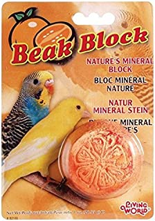 Living World Mineral Block, Orange (for Parakeets), 1 Ounce