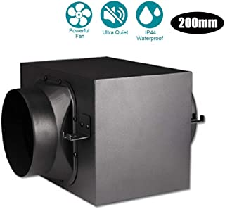 WYHDA Mixed Flow Inline Duct Fan Extractor Fan Industry Diameter 200mm for Bathroom, Office, Hotel, Hall, Hydroponic Room (Efficient Filtration of PM2.5) Three-Layer Filter
