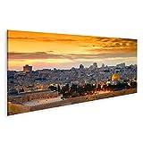 Bild Bilder auf Leinwand Panorama der Jerusalemer Altstadt
