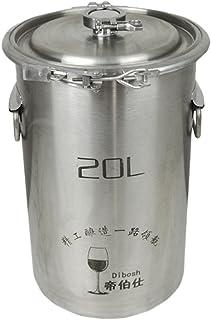 Tonneau de fermentation en acier inoxydable 304 pour brassage maison, vin, bière, 20 L sans robinet