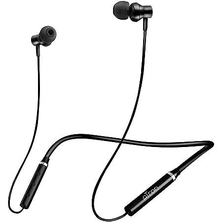 (Renewed) pTron Tangent Beats Magnetic in-Ear Wireless Bluetooth Headphones with Mic - (Black)