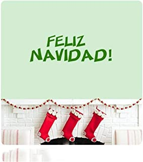 Gidet Wall Stickers Design Art Words Sayings Removable Lettering Feliz Navidad Song Christmas Spanish We Wish You A Merry Christmas Sticker Quote Happy Holidays Home Decor
