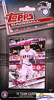 2017 Topps Baseball American League ALL STARS EXCLUSIVE Special Limited Edition 17 Card Complete Set with Mike Trout, Manny Machado, Gary Sanchez & Many More Stars! Shipped in Bubble Mailer! WOWZZER!