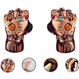 Superhero Gauntlet Infinity Gauntlet Gloves Smash Fists Plush Hands Stuffed Pillow Handwear Set of 2(Left and Right Hands), Kids Cosplay Costumes Gloves, Superhero Toys For Boys, Toddlers, Birthday, Halloween, = (M)