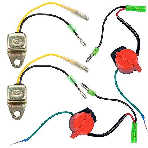 Anzac (Pack of 2 Low Oil Alert Sensor and Engine Stop Switch for Honda GX120 GX160 GX200 GX240 GX270 GX340 GX390 5.5HP 6.5HP 8HP 9HP 11HP 13HP