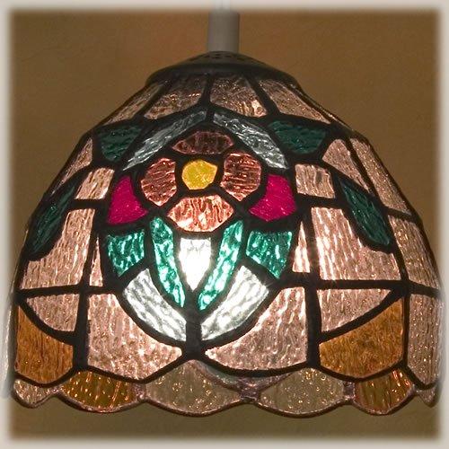 ティファニー ステンド グラス ランプシェード(フラワー)