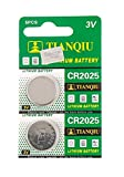 Tianqiu CR2025 3V Lithium Coin Cell Batteries (2 Batteries)
