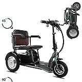 WJSW Dreiräder Erwachsene, elektrischer Dreirad-Roller mit Mini-Faltung ältere und behinderte Menschen - Gewicht 30 kg - Last 150 kg - Maximale Laufleistung 60 km Dreirad Erwachsene
