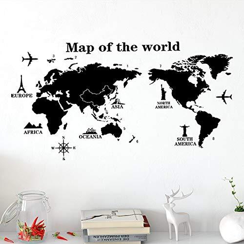Mapa creativo pegatinas de pared sala de estar dormitorio TV sofá Fondo decoración de pared calcomanías de vinilo decoración del hogar papel tapiz de PVC