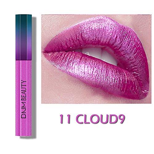 OYOTRIC Flüssiger Lippenstift, feuchtigkeitsspendend Liquid Lipstick, Hochpigmentiert scheinende Irisierendes Glitzer Metallic Lippen Lack Lipglos