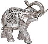 Maturi–Raised Tronco Buda Estilo Figura de Elefante, de Metal, Multicolor, 16.76X 5,08X 12,7cm...