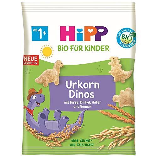 HiPP Bio für Kinder Knabberprodukte Urkorn-Dinos, 30 g