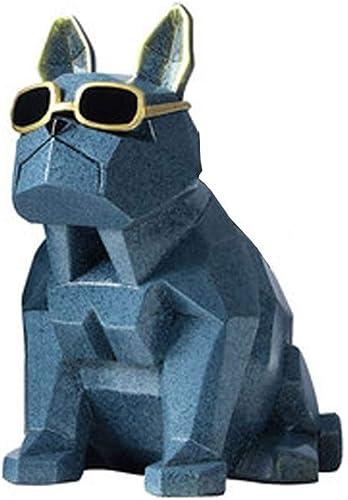 LNYJ Umweltfreundliche Harz Stifthalter kreative Mode Coole Roboter Hund Bleistifthalter niedlichen Studenten Desktop Dekoration Aufbewahrungsbox Stifteinsatz Geschenk (Farbe   Dark Blau)