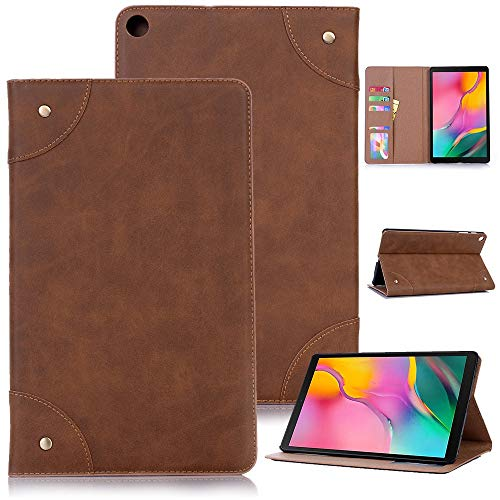 RZL PAD & TAB cases For Samsung Galaxy Tab A 10.1 2019 SM-T510 SM-T515 T510 T515, Vintage Leather Case Cover Stand Case For Samsung Galaxy Tab A 10.1 2019 (Color : Light Brown B)