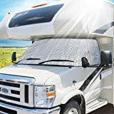 Eapele RV Windshield Cover Class C Compatible with Ford 1997-2020 RV Front Window Cover