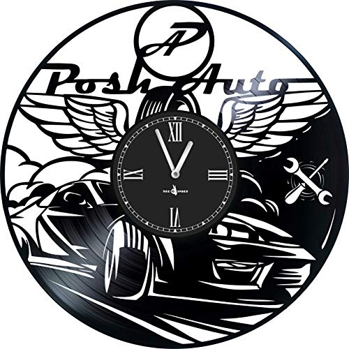 Wall Clock in Music Vinyl Record -12 inch -Made in Europe -Precision Silent Quartz Movement -Best Gift for Owners and Employees of car dealerships and Service Stations -Original Design -Home Decor