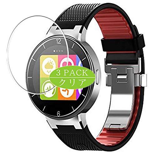 Vaxson Protector de pantalla compatible con Alcatel One Touch Smartwatch híbrido, protector de película HD (no vidrio templado), película protectora flexible
