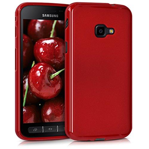 kwmobile Hülle kompatibel mit Samsung Galaxy Xcover 4 / 4S - Hülle Silikon - Soft Handyhülle - Handy Hülle in Rot matt