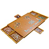 Jumbl Puzzle Board | 27 x 35 Wooden Jigsaw Puzzle Table w/ 6 Storage & Sorting Drawers | Smooth Plateau Fiberboard Work Surface & Reinforced Hardwood | for Games & Puzzles Up to 1,500 Pieces