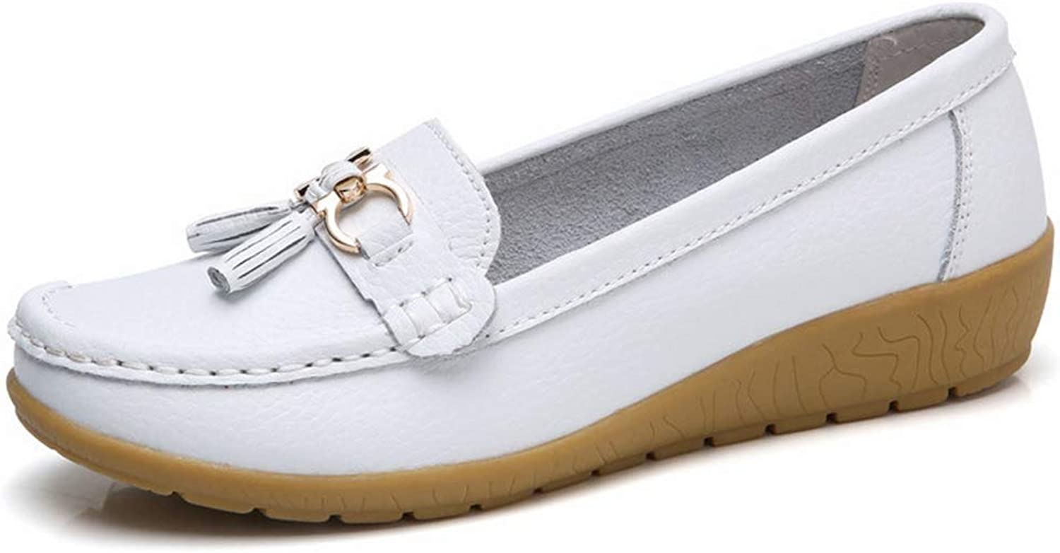 T-JULY Women PU Leather Flats Slip On Loafers Female Plus Size shoes
