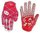 Seibertron Pro 3.0 12 Konstellation Elite Ultra-Stick Sports Receiver/Empfänger Handschuhe American Football Gloves Jugend und Kinder Red XS