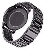 Lzpzz Correa de reloj de 18 mm, 22 mm, 20 mm, 24 mm, para Galaxy Watch 42, 46 mm, Gear S3 Active2 Band de acero inoxidable (color: negro, tamaño: S2 o 20 mm)