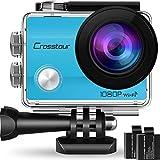 Crosstour Action Kamera 1080P WiFi Full HD Sports Cam 12MP 2' LCD Helmkamera Wasserdicht...