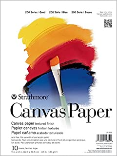 Strathmore (25-309 200 Series Canvas Paper Pad, 9 x 12, 10 Sheets