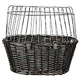 Trixie 2818 - Cesta Bicicletas mimbre osc., Rejilla, 50×41×35 cm