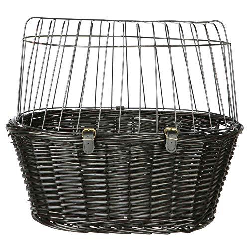 Trixie 2818 Front-Fahrradkorb, 50 × 41 × 35 cm, schwarz
