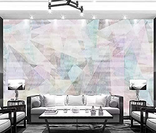 Fotomurales Triángulos abstractos geométricos Pared Pintado Papel tapiz 3D Decoración dormitorio Fotomural de estar sala sofá mural-430cm×300cm