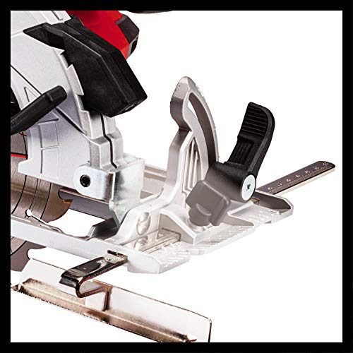 Einhell Akku-Handkreissäge TE-CS 18/165 Li-Solo Power X-Change (Li-Ion, max. Schnitttiefe 54mm, werkzeuglose Einstellung von Schnitttiefe + Neigungswinkel, Spindelarretierung, ohne Akku und Ladegerät) - 6