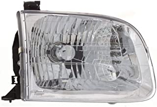 Headlight Headlamp Compatible with 2001-2004 Toyota Sequoia Tundra Double Cab Passenger Right Side Replacement