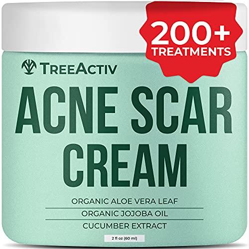 TreeActiv Acne Scar Cream   Pimple Fade Cream Moisturizer for Face and Body   Cystic Acne Spot Treatment with Manuka Honey & Vitamin E Oil for Scars, Blemishes, Marks, & Dark Spots   200+ Treatments
