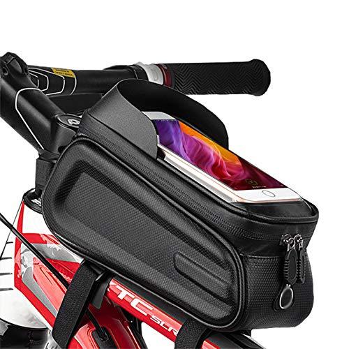 OEMC Bolsa Cuadro De Bicicleta Impermeable Soporte para Teléfono Inteligente Reflectante, Pantalla Táctil De TPU Bolsa para Teléfono Adecuada para 8 Pulgadas Todo Tipo De Bicicletas