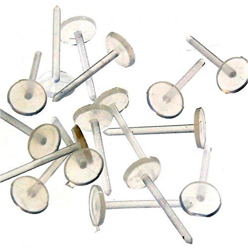 Présentoirs pour Bijoux accessori creazione orecchini a lobo plastica antiallergie 5mm (50pezzi) e traslucido, cod. SKU012403