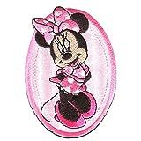 Disney © Minnie Mouse OVAL - Aufnäher, Bügelbild, Aufbügler, Applikationen, Patches, Flicken, zum aufbügeln, Größe: 8,8 x 6 cm