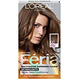 L'Oreal Paris Feria Multi-Faceted Shimmering Permanent Hair Color, 60 Crystal Brown (Light Brown), Pack of 1, Hair Dye