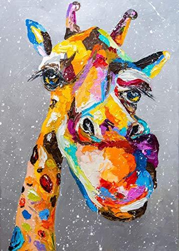 YWOHP Street Graffiti Art Animal Jirafa Perro Lienzo Pintura Mural Poster Printmaking Habitación de los niños Dormitorio Pintura de la Pared Cuadros-20X30cm