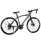 Lightweight Aluminum Road Bike, 700C Wheels 21...