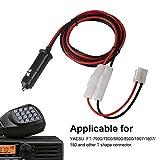 Zerone YAESU 12V-14V 20A macho enchufe encendedor de cigarrillos cable de alimentación con cable para inversor de coche, bomba de aire, taza eléctrica y bricolaje