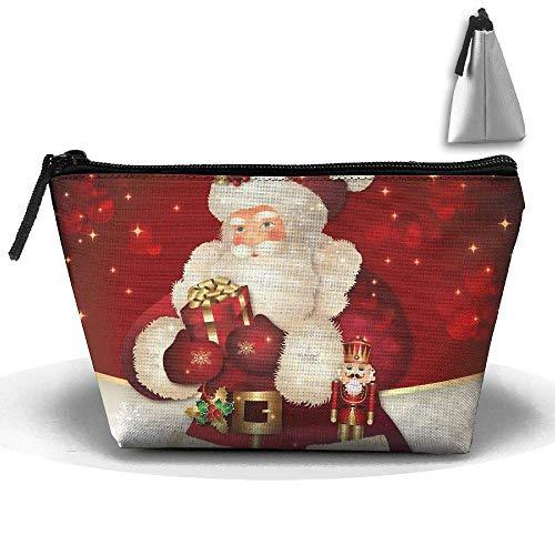 Kerstmis Kerstman waterdichte trapeziumtas make-up tas grote reis toilettas draagbare opslag potloodhouder