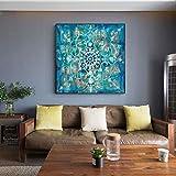 Flor pared arte lienzo impresión abstracta flor decoración lienzo arte imagen cuadro decoración de la pared