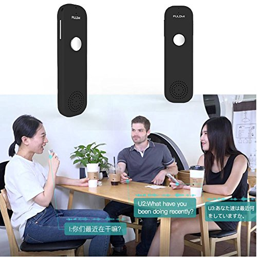 Pulomi Easy Trans Smart Language Translator Device Electronic Pocket Voice Bluetooth 52 Languages for Learning Travel Shopping Business Fit for Apple iPhone Android Black Photo #8