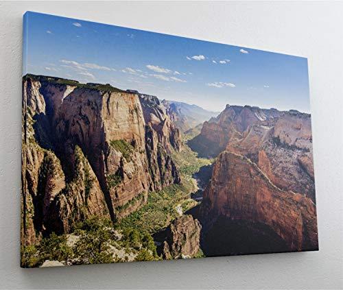 Grand Canyon Schlucht Stein Fels Gebirge Leinwand Bild Wandbild Kunstdruck L0398 Größe 100 cm x 70 cm